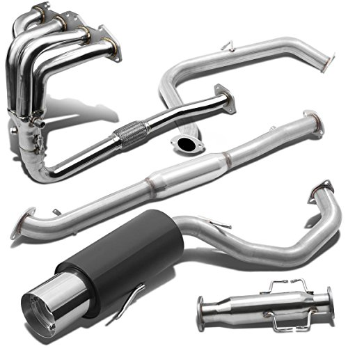 "4.5/"" MUFFLER TIP CATBACK RACING EXHAUST SYSTEM FOR 95-99 MITSUBISHI ECLIPSE 420A"