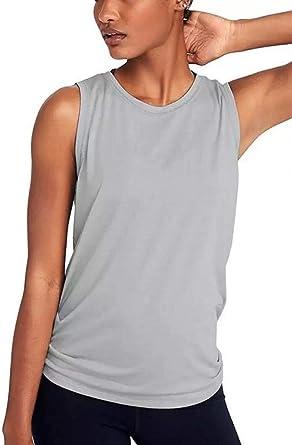 Camiseta de Tirantes de algodón sin Mangas para Mujer Gris Gris 54: Amazon.es: Ropa y accesorios