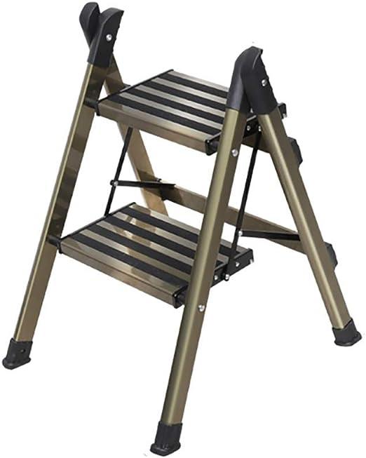 Taburete de escalera ZCJB Taburete De Metal con Peldaños Antideslizantes, Silla De Escalera Plegable For El Hogar con Pedal Extra Ancho De 19 Cm, Capacidad De 330 LB Taburete: Amazon.es: Hogar