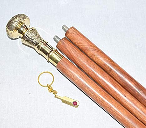 New Vintage Antique Style Wood Victorian Style Handle Walking Stick Cane Gift