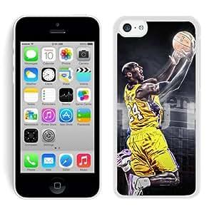 iPhone 5C Case,2015 Hot New Fashion Stylish Kobe Bryant White Case Cover for iPhone 5C