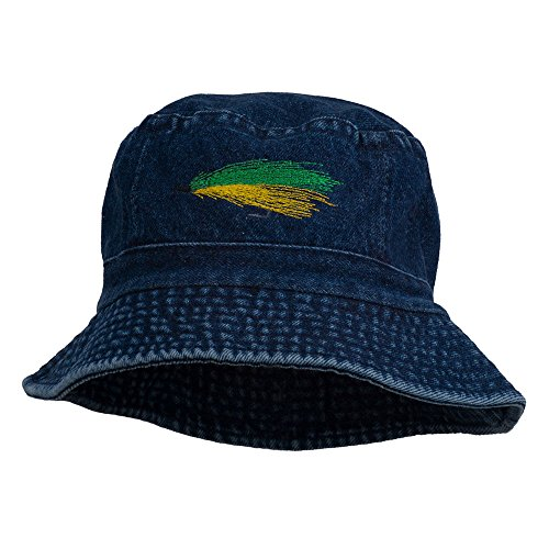 e4Hats.com Fly Fishing Embroidered Washed Cotton Bucket Hat - Denim -