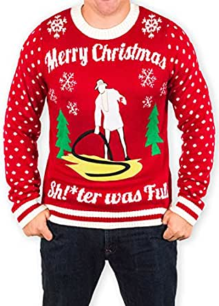 Christmas Vacation Cousin Eddie Sh Ter Was Full Ugly Holiday Sweater 5x Large At Amazon Men S