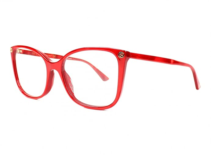 Amazon.com: Optical frame Gucci Acetate Marble Red (GG0026O 004 ...