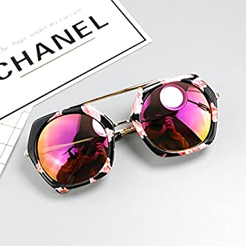 Sunyan Neue Kinder Sonnenbrillen junge Persönlichkeit mode Brille baby girl Princess schöne Gläser, 612 hexagon Sonnenbrille Suihua