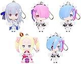 Re:Zero Starting Life in Another World Ram Character Gacha Capsule Mascot Swing Key Chain Collection Anime Girls Art