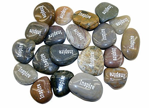 OEN Wholesale Inspirational Word River Stones Etched Bulk Lot 40pcs Big Stones - Rocks River Engraved