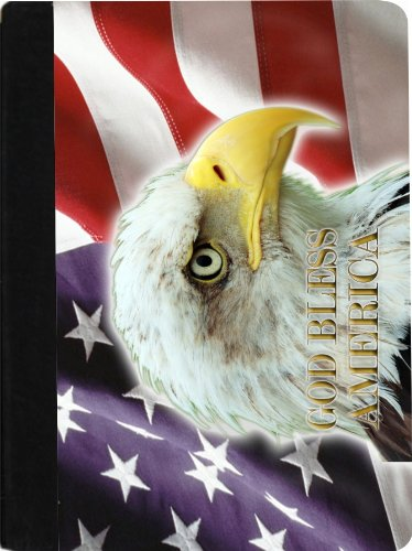 Rikki Knight American Flag Eagle Design Faux Suede Notebo...