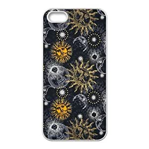 Sun Moon Pattern Unique Fashion Printing Phone Case for Iphone 5,5S,personalized cover case ygtg543122