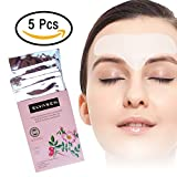 Facial Mask For Wrinkles - Anti-wrinkle Forehead Hydrogel T Patch - Facial Smoothies Hydrating Wrinkle Removal Strips Hydrating Mask Treatment with Hydrocolloid Gel during Sleeping for men and women(5 bag/ Box)