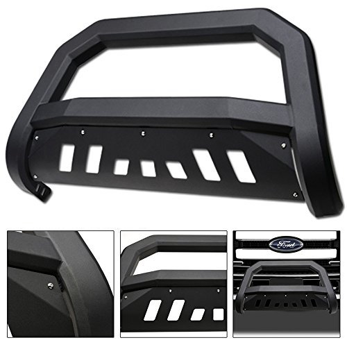 VXMOTOR 2011-2016 Ford F250 / F350 / F450 / F550 Superduty Matte Black AVT Edge Bold Series Bull Bar Brush Push Front Bumper Grill Grille Guard (Used Brush Guard)