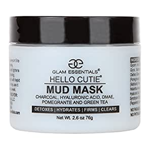 The Only Aloe Base Mud Mask with Free Boars Head Application Brush Reduces Irritation Made Hyaluronic Acid, Relieves Acne, Pimple and Shrinks Pores Instantly