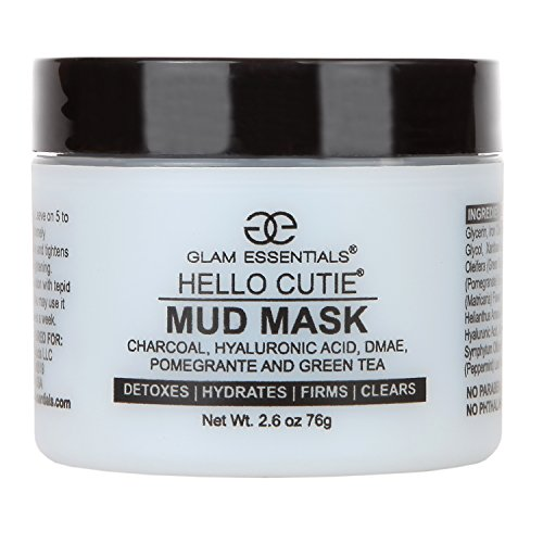 Aloe Base Mud Mask with Konjac and Free Boars Head Application Brush Reduces Irritation Made Hyaluronic Acid, Relieves Acne, Pimple and Shrinks Pores Instantly