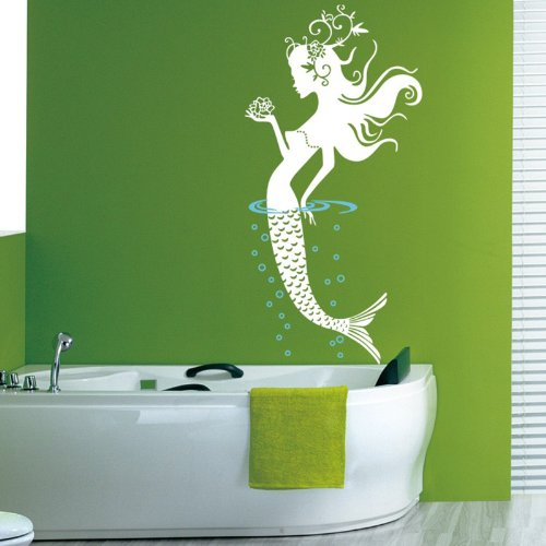 Mermaid Sticker Bathroom Stickers Removable