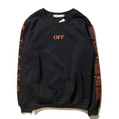 c024f08a0912 NIMOO Vlone Off White Joint Street Brand Big V Printing Women Long Sleeve  Men s Hoodie