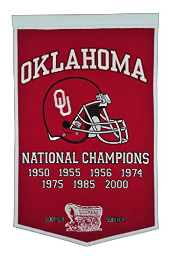 Winning Streak NCAA Oklahoma Sooners Dynasty Banner (Sooners Applique Ncaa Oklahoma)