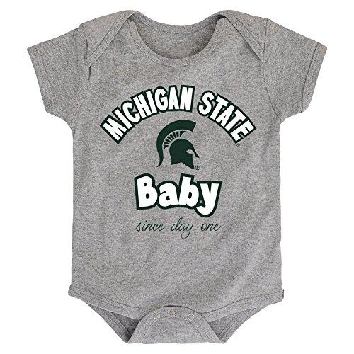 - NCAA Michigan State Spartans Newborn & Infant Team Baby Bodysuit, 3-6 Months, Heather Grey
