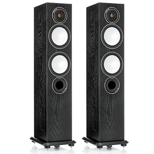 Monitor Audio Silver 6 - Par de caixas acústicas Torre 2,5-vias para Home Theater Preto