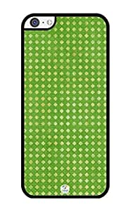 Green Pattern Rubber iPhone 5C Case - Fits iPhone 5C Verizon, AT&T, Sprint, T-Mobile and International