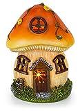 Mushroom Fairy House Solar Powered Outdoor Decor