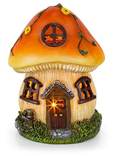 Mushroom Fairy House Solar Garden Light (Garden Figurines Mushroom)