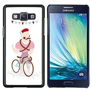 """Be-Star Único Patrón Plástico Duro Fundas Cover Cubre Hard Case Cover Para Samsung Galaxy A5 / SM-A500 ( Bigote del inconformista Caricatura Dibujo colorido"""" )"""