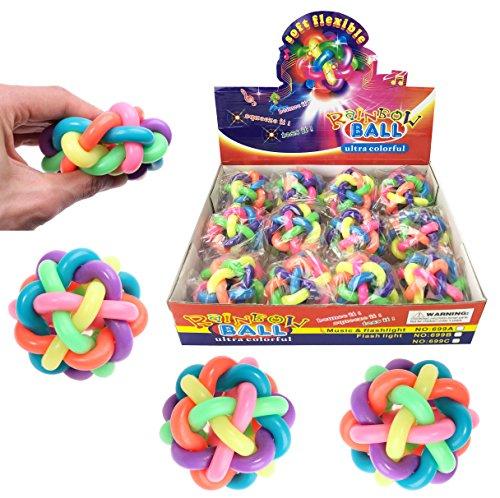 Set Bouncy Soft Fidget Balls
