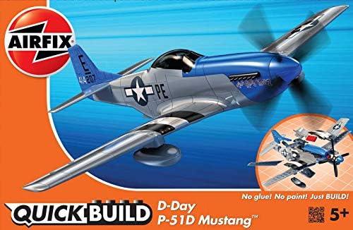 エアフィックス クイックビルドシリーズ D-DAY ムスタング ノンスケール 塗装済みブロック式組み立てキット QB0046