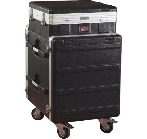 Console 4 Rack - Gator Cases Lightweight ATA Molded Console Rack Case; 10U Pop-Up Top and 12U Side (GRC-10X12 PU)