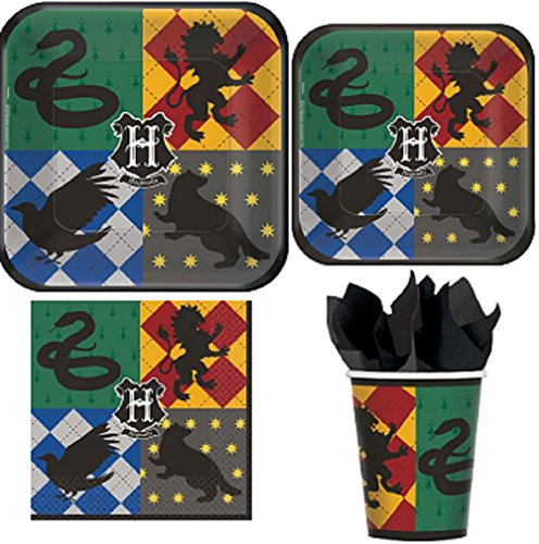 Amscan Harry Potter Party Pack! Bundle of Plates, Napkins, and Cups