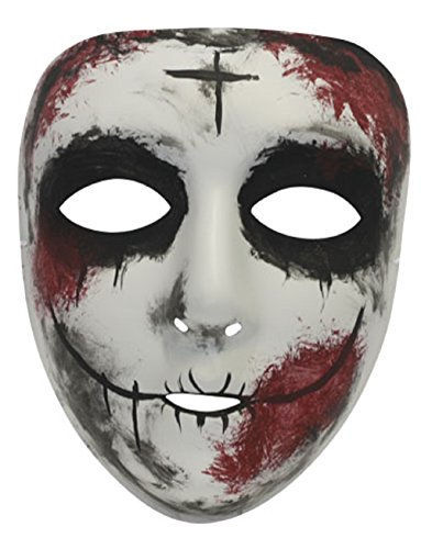 Purge Costumes (Success Creations USA Sinless Similar Purge Scary Masquerade Mask for Men and Women)