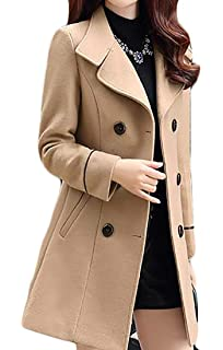 8a0a1197070 Amazon.com  Verypoppa Women s Spring Autumn Jacket Double Breasted ...