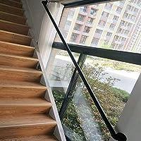 Baranda de escalera de cubierta y pared exterior grúa Negro del hierro labrado Patio de madera Barandillas Escalera pasamanos textuales, Diseño del tubo de agua (50-300cm) Pasamanos AAA~: Amazon.es: Bricolaje y herramientas