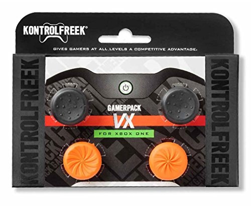 - KontrolFreek GamerPack VX for Xbox One Controller | Performance Thumbsticks | 3 High-Rise, 1 Mid-Rise Concave | Black/Orange