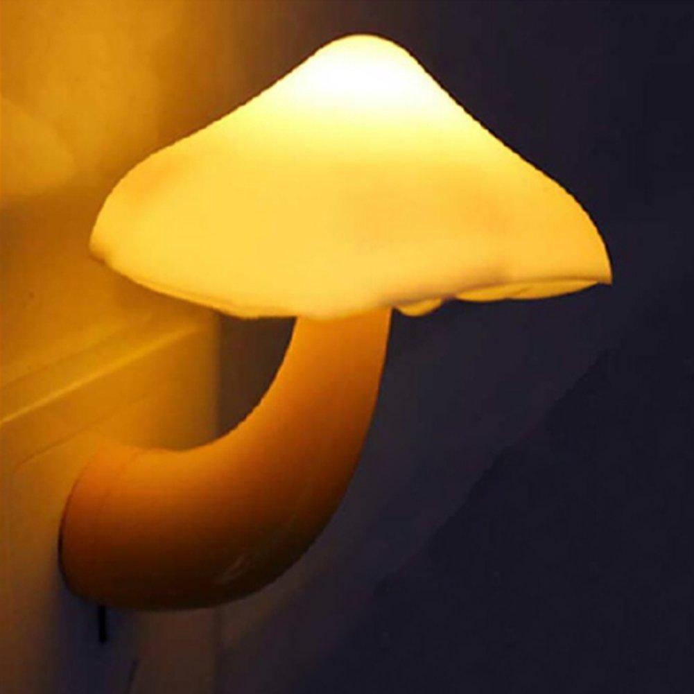Amazon.com: IMINOVO Lovely LED Night Light Lamp Mini Mushroom,Plug In  Wall,Automatic Sensor Lamp For Babyroom,Good Presant Gift For  Children,Living Room ...