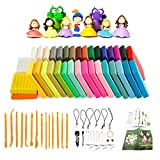 #2: Polymer Clay Oven Bake Clay 36 Colours Safe and Nontoxic Soft DIY Modelling Moulding Clay with 14 Modeling Tools and Accessories