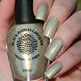 Gold Rush | Gold Glitter Holo Nail Polish with Shimmer | Vegan and 5 Free | by Black Dahlia Lacquer