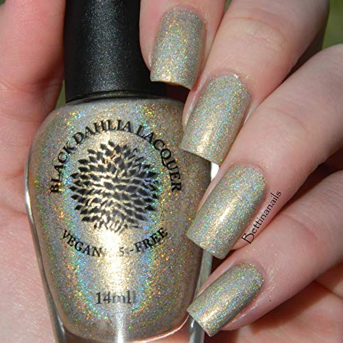 Gold Rush | Gold Glitter Holo Nail Polish with Shimmer | Vegan and 5 Free | by Black Dahlia Lacquer by Black Dahlia Lacquer LLC