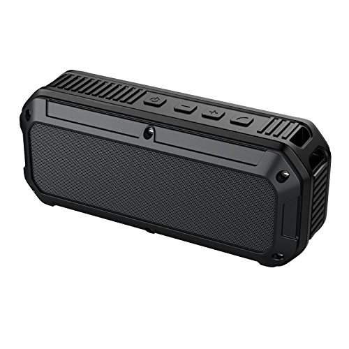 Amazon Lightning Deal 80% claimed: AUKEY Bluetooth Speaker, Outdoor Wireless Speaker with 16 Hours Playtime, Water and Shock Resistant, Dedicated Bass Port for iPhone, iPad, Samsung & More - Black