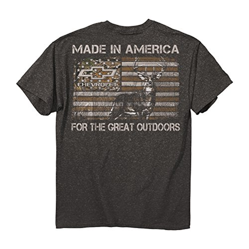 Buckwear Men's Chevy - Made In America Cotton T-Shirt, Charcoal Heather, Large