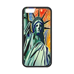 K-G-X Phone case For Apple Iphone 6 Plus 5.5 inch screen Cases Case-Pattern-1 American Statue Of Liberty Protective Back Case