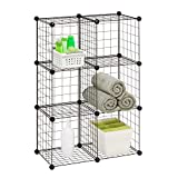 Honey-Can-Do SHF-02113 Modular Mesh Storage Cube, 6-Pack, Black, 43Hx29W
