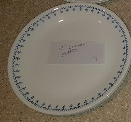 Corelle Snowflake Blue Dinner Plates Set of 2