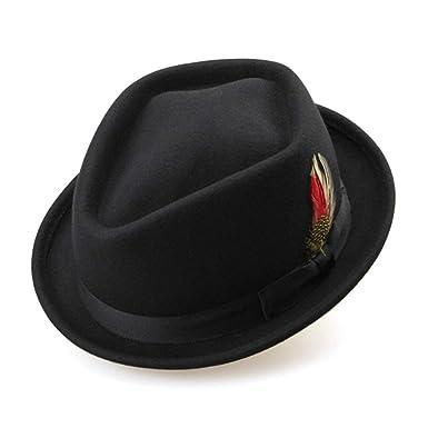 HaiDean Gorras Sombrero De Fieltro Mujer para Invierno De ...