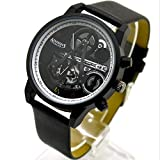 POMUTRE Assassin's Creed Quartz Watch Game Around Couple Electronic Watch Black Flag Movement(Black)