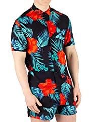 The Resort Short Sleeve Hazy Daze Shirt from Sik Silk comes with short sleeves and a curved hem, featuring a floral design. Coming in Black/Red/Teal colour, this shirt features a classic collar and button closure with branded buttons.
