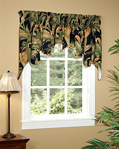 (La Selva Black Empress Swag Valance Pair by Thomasville)
