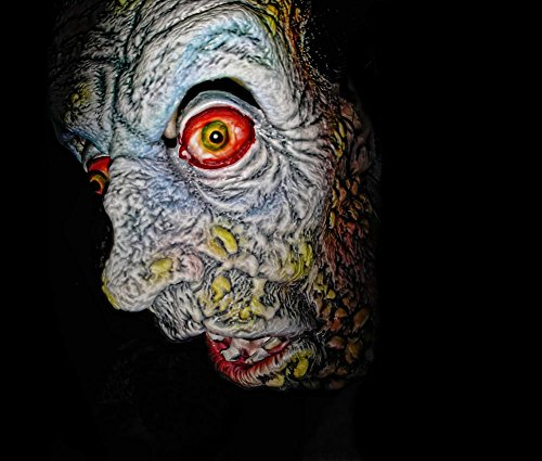 Wall Art Impressions Quality Prints - Laminated 28x24 Vibrant Durable Photo Poster - Zombie Halloween Scary Mask Face Holiday Horror Creepy Eyes Death Deaad ()