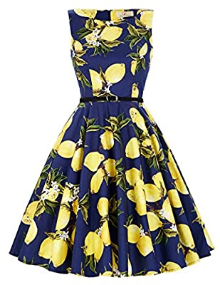 Grace Karin Women's Retro 50s Summer Swing Party Multi Patterns Dresses