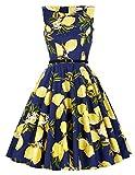 Grace Karin®Women's Floral 50's Vintage Cocktail Swing Dresses With Belt